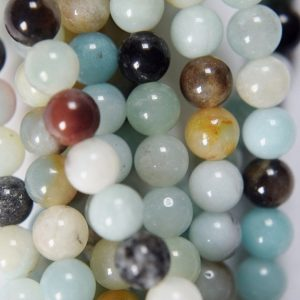 "Shop Amazonite Round Beads! Genuine Amazonite Beads – Round 6 mm Gemstone Beads – Full Strand 15 1/2"", 65 beads, A Quality 