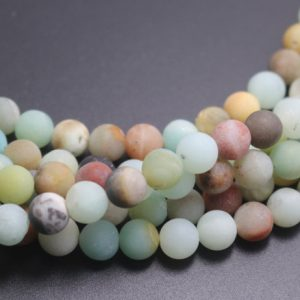 Shop Amazonite Round Beads! Matte Amazonite Beads, multicolor Matte Amazonite Beads, 4mm / 6mm / 8mm / 10mm / 12mm Natural Gemstone Round Beads, 15 Inches One Starand | Natural genuine round Amazonite beads for beading and jewelry making.  #jewelry #beads #beadedjewelry #diyjewelry #jewelrymaking #beadstore #beading #affiliate #ad