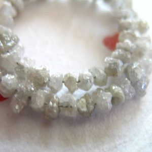Shop Raw & Rough Diamond Beads! 10-50 pcs / Diamond Beads Nuggets / 2-3 mm, silver white rough diamonds, wholesale diamonds, april birthstone gemstone raw rough ddcw 23 | Natural genuine beads Diamond beads for beading and jewelry making.  #jewelry #beads #beadedjewelry #diyjewelry #jewelrymaking #beadstore #beading #affiliate #ad