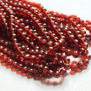 Shop Garnet Faceted Beads! 4-4.5mm Garnet Faceted Balls, Garnet Faceted Round Beads, Garnet Faceted Beads For Jewelry, Garnet Round Balls (4IN To 8IN Options) | Natural genuine faceted Garnet beads for beading and jewelry making.  #jewelry #beads #beadedjewelry #diyjewelry #jewelrymaking #beadstore #beading #affiliate #ad