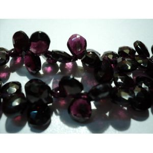 Shop Garnet Faceted Beads! Garnet, Micro Faceted Pear Beads, Briolette Beads – 7x9mm Each Approx – 33 Pieces Approx | Natural genuine faceted Garnet beads for beading and jewelry making.  #jewelry #beads #beadedjewelry #diyjewelry #jewelrymaking #beadstore #beading #affiliate #ad