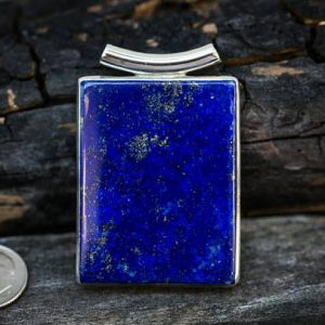 Shop Lapis Lazuli Necklaces! Lapis Pendant set in Sterling Silver – Gorgeous Tube Bale Lapis Lazuli Pendant – Lapis Jewelry – Sterling Silver Lapis Necklace – Lapis | Natural genuine Lapis Lazuli necklaces. Buy crystal jewelry, handmade handcrafted artisan jewelry for women.  Unique handmade gift ideas. #jewelry #beadednecklaces #beadedjewelry #gift #shopping #handmadejewelry #fashion #style #product #necklaces #affiliate #ad