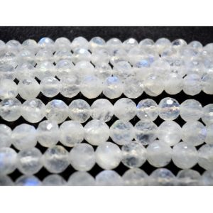 Shop Moonstone Faceted Beads! Rainbow Moonstone, Faceted Rondelle, 5mm Beads, Faceted Rondelle Beads, 5.5 Inch Half Strand | Natural genuine faceted Moonstone beads for beading and jewelry making.  #jewelry #beads #beadedjewelry #diyjewelry #jewelrymaking #beadstore #beading #affiliate #ad