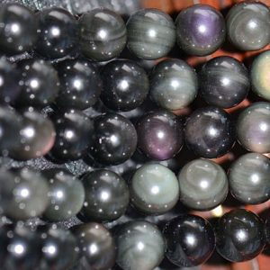 Shop Obsidian Beads! Natural Obsidian Smooth And Round Beads, 4mm / 6mm / 8mm / 10mm / 12mm Beads Supply, 15 Inches One Starand | Natural genuine beads Obsidian beads for beading and jewelry making.  #jewelry #beads #beadedjewelry #diyjewelry #jewelrymaking #beadstore #beading #affiliate #ad