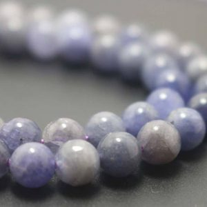 Shop Tanzanite Round Beads! Natural Tanzanite Smooth and Round Beads,6mm/8mm/10mm/12mm Natural Zoisite Beads Bulk Supply,15 inches one starand | Natural genuine round Tanzanite beads for beading and jewelry making.  #jewelry #beads #beadedjewelry #diyjewelry #jewelrymaking #beadstore #beading #affiliate
