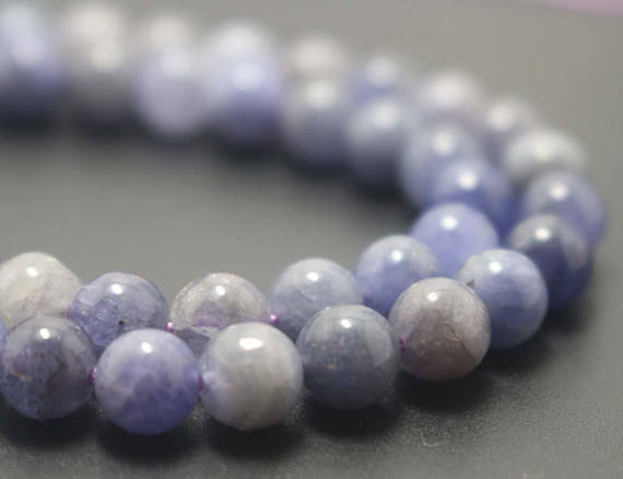 Natural Tanzanite Smooth And Round Beads, 6mm / 8mm / 10mm / 12mm Natural Zoisite Beads Bulk Supply, 15 Inches One Starand