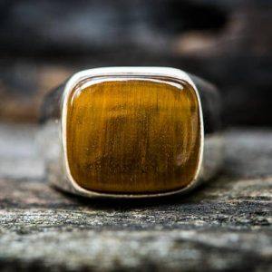 Shop Men's Gemstone Rings! Tiger Eye Ring – Tigers Eye Size 11.5 Ring – Mens Ring – Tigers Eye Jewelry – Tigers Eye Silver Ring – Tigers Eye Unisex Ring – Tiger Eye | Natural genuine Agate mens fashion rings, simple unique handcrafted gemstone men's rings, gifts for men. Anillos hombre. #rings #jewelry #crystaljewelry #gemstonejewelry #handmadejewelry #affiliate #ad