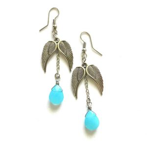 Shop Turquoise Earrings! Czech Crystal Earrings, Blue Crystal Earrings, Blue Drop Earrings, Turquoise Blue Earrings, Angel Wings Earrings, Blue Crystal Jewelry | Natural genuine Turquoise earrings. Buy crystal jewelry, handmade handcrafted artisan jewelry for women.  Unique handmade gift ideas. #jewelry #beadedearrings #beadedjewelry #gift #shopping #handmadejewelry #fashion #style #product #earrings #affiliate #ad