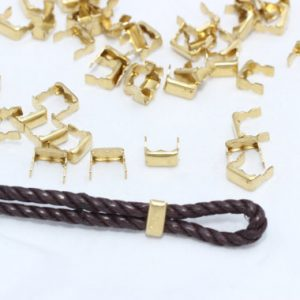 Shop Hemp Jewelry Making Supplies! 50 Pcs Inner 5mm Raw Brass Crimp Beads , Crimp Covers – Raw Brass tip – cord tip- cord end , CR32 | Shop jewelry making and beading supplies, tools & findings for DIY jewelry making and crafts. #jewelrymaking #diyjewelry #jewelrycrafts #jewelrysupplies #beading #affiliate #ad