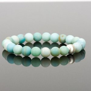 Matte Amazonite Bracelet, Blue Amazonite Gemstone Bracelet, Handmade Jewelry | Natural genuine Amazonite bracelets. Buy crystal jewelry, handmade handcrafted artisan jewelry for women.  Unique handmade gift ideas. #jewelry #beadedbracelets #beadedjewelry #gift #shopping #handmadejewelry #fashion #style #product #bracelets #affiliate #ad