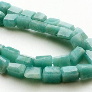 Shop Amazonite Chip Beads! Amazonite Step Cut Nuggets, Amazonite Faceted Beads, Amazonite Necklace, Sea Foam Amazonite, 9-15mm, 9 Inch, 22 Pcs – KRS202 | Natural genuine chip Amazonite beads for beading and jewelry making.  #jewelry #beads #beadedjewelry #diyjewelry #jewelrymaking #beadstore #beading #affiliate