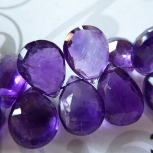 Shop Amethyst Faceted Beads! PURPLE AMETHYST Pear Briolettes, Huge / 1-10 pcs, 13-14.5 mm, Luxe AAA / Royal Purple Focal Beads, Faceted, february birthstone 13up  tr | Natural genuine faceted Amethyst beads for beading and jewelry making.  #jewelry #beads #beadedjewelry #diyjewelry #jewelrymaking #beadstore #beading #affiliate