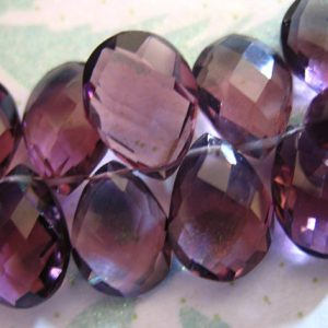 Shop Amethyst Faceted Beads! Purple QUARTZ Pear Briolettes Beads /  amethyst color / 2-10 pcs, 13-14 mm, Giant Faceted / february birthstone wholesale  hydqtz36 solo bsc | Natural genuine faceted Amethyst beads for beading and jewelry making.  #jewelry #beads #beadedjewelry #diyjewelry #jewelrymaking #beadstore #beading #affiliate