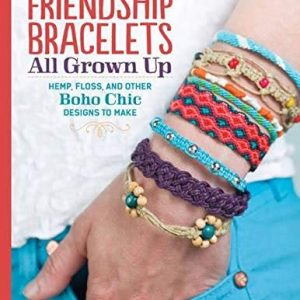 Friendship Bracelets All Grown Up: Hemp, Floss, and Other Boho Chic Designs to Make (Design Originals) 30 Stylish Designs, Easy Techniques, and Step-by-Step Instructions for Intricate Knotwork | Shop jewelry making and beading supplies for DIY jewelry making and crafts. #jewelrymaking #diyjewelry #jewelrycrafts #jewelrysupplies #beading #affiliate