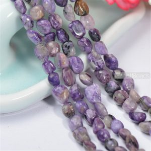 Shop Charoite Beads! Full Strand Natural Charoite Beads NOT Dyed 4*6*8mm Irregular Shape 15 Inch Strand CH55 | Natural genuine beads Charoite beads for beading and jewelry making.  #jewelry #beads #beadedjewelry #diyjewelry #jewelrymaking #beadstore #beading #affiliate #ad