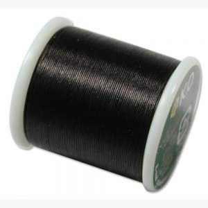 Shop Beading Thread! K.O. Japanese Nylon Beading Thread for Delica Beads, 50m, Black | Shop jewelry making and beading supplies, tools & findings for DIY jewelry making and crafts. #jewelrymaking #diyjewelry #jewelrycrafts #jewelrysupplies #beading #affiliate #ad