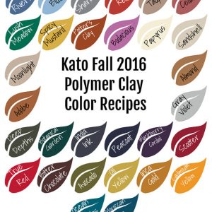 Shop Polymer Clay Jewelry Making Tools! Kato Polyclay Polymer Clay Color Mixing Recipe Ebook for Fall Winter 2016, polymer clay color mixing tutorial | Shop jewelry making and beading supplies, tools & findings for DIY jewelry making and crafts. #jewelrymaking #diyjewelry #jewelrycrafts #jewelrysupplies #beading #affiliate #ad
