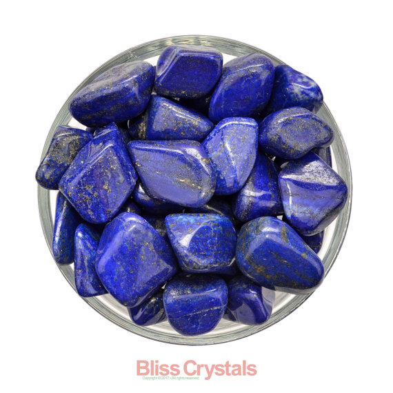1 Lapis Lazuli Tumbled Stone Grade A Premium Gem W Pyrite Healing Crystal And Stone (you Select Size) #lt33