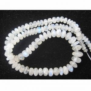 Shop Moonstone Rondelle Beads! Rainbow Moonstone Plain Rondelle, White Rainbow Beads, 4.5mm To 10mm Beads, Rondelle Beads, 7 Inch Half Strand, 44 Pieces Approx | Natural genuine rondelle Moonstone beads for beading and jewelry making.  #jewelry #beads #beadedjewelry #diyjewelry #jewelrymaking #beadstore #beading #affiliate #ad