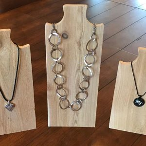 Necklace Stand in Raw Cedar Wood  – Jewelry Display, Necklace Display, Necklace Tree, Jewelry Stand, Necklace Holder, Hanger, Rack, Bust | Shop jewelry making and beading supplies, tools & findings for DIY jewelry making and crafts. #jewelrymaking #diyjewelry #jewelrycrafts #jewelrysupplies #beading #affiliate #ad