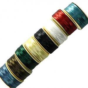 Shop Beading Thread! Nymo? Nylon Seed Bead Thread Size B (8 Bobins 144 Yards Each) 0.008 Inch 0.203mm Mixed Colors | Shop jewelry making and beading supplies, tools & findings for DIY jewelry making and crafts. #jewelrymaking #diyjewelry #jewelrycrafts #jewelrysupplies #beading #affiliate #ad