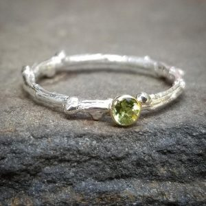 Shop Men's Gemstone Rings! Natural Peridot Ring, Genuine Peridot Rings, 14K Gold August Birthstone Jewelry, Womens Gift, Silver Twig Ring, Unique Branch Stacking Ring | Natural genuine Agate rings, simple unique handcrafted gemstone rings. #rings #jewelry #shopping #gift #handmade #fashion #style #affiliate #ad
