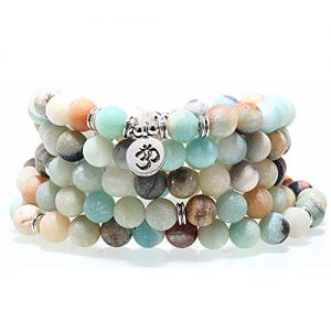 SEVENSTONE 8MM 108 Mala Beads Charm Bracelet for Men Women Yoga Bracelet Necklace | Shop jewelry making and beading supplies, tools & findings for DIY jewelry making and crafts. #jewelrymaking #diyjewelry #jewelrycrafts #jewelrysupplies #beading #affiliate #ad