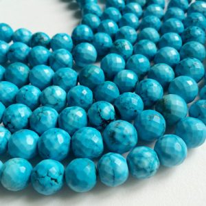 Shop Turquoise Faceted Beads! Turquoise Beads, Chinese Turquoise Faceted Round Balls, Turquoise Necklace 11mm, 4 Inch, 10 Pcs – AGA73 | Natural genuine faceted Turquoise beads for beading and jewelry making.  #jewelry #beads #beadedjewelry #diyjewelry #jewelrymaking #beadstore #beading #affiliate #ad