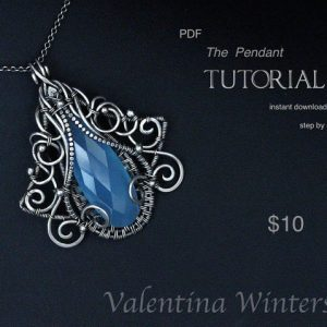 Shop Learn Beading - Books, Kits & Tutorials! TUTORIAL – Pendant tutorial – Jewelry Tutorial  – Wire Jewelry Tutorial – Wrapping Tutorial – step by step – 3-D Layer jewelry Tutorial | Shop jewelry making and beading supplies, tools & findings for DIY jewelry making and crafts. #jewelrymaking #diyjewelry #jewelrycrafts #jewelrysupplies #beading #affiliate #ad