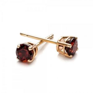 Shop Garnet Earrings! 1 carat garnet stud earrings-Red garnet-Handmade garnet stud earrings-14 k Yellow gold earnings-Gift idea for her-Christmas gift-For her | Natural genuine Garnet earrings. Buy crystal jewelry, handmade handcrafted artisan jewelry for women.  Unique handmade gift ideas. #jewelry #beadedearrings #beadedjewelry #gift #shopping #handmadejewelry #fashion #style #product #earrings #affiliate #ad