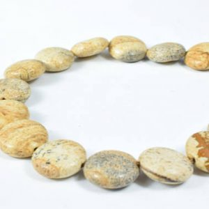 Shop Picture Jasper Bead Shapes! 15mm Round Flat Picture Jasper Beads Gemstone Round Beads Loose Gemstone, Birthstone for Jewelry Making, Wholesale Jasper Beads,Jasper | Natural genuine other-shape Picture Jasper beads for beading and jewelry making.  #jewelry #beads #beadedjewelry #diyjewelry #jewelrymaking #beadstore #beading #affiliate #ad