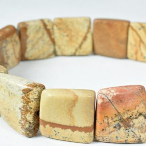 Shop Picture Jasper Bead Shapes! 17mm Picture Jasper Gemstone Beads, 20pcs  natural healing stone Beads birthstone natural Beads for jewelry making.Sold by one strand | Natural genuine other-shape Picture Jasper beads for beading and jewelry making.  #jewelry #beads #beadedjewelry #diyjewelry #jewelrymaking #beadstore #beading #affiliate #ad