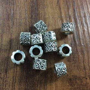 Shop Hemp Jewelry Making Supplies! 30pcs Antique Silver Beads,Large Hole Beads , Metal Spacer, Tibetan Style Beads , Crafted  supplies findings,diy | Shop jewelry making and beading supplies, tools & findings for DIY jewelry making and crafts. #jewelrymaking #diyjewelry #jewelrycrafts #jewelrysupplies #beading #affiliate #ad