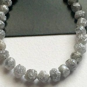 Shop Raw & Rough Diamond Beads! 5 Pcs Perfect Natural Round Grey Raw Diamond Beads, Large Rough Diamond Rondelle Beads, 4-5mm Beads – DDP230 | Natural genuine beads Diamond beads for beading and jewelry making.  #jewelry #beads #beadedjewelry #diyjewelry #jewelrymaking #beadstore #beading #affiliate #ad
