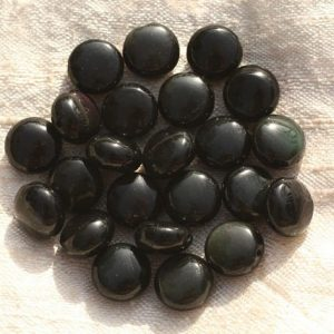 5pc – stone beads – black obsidian and Rainbow 10mm – 4558550007261 pucks | Natural genuine other-shape Rainbow Obsidian beads for beading and jewelry making.  #jewelry #beads #beadedjewelry #diyjewelry #jewelrymaking #beadstore #beading #affiliate #ad