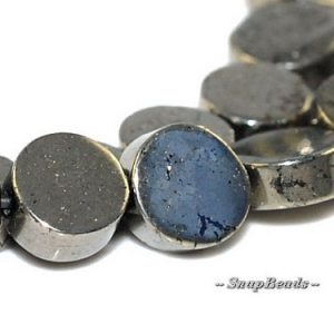 Shop Pyrite Bead Shapes! 6MM Palazzo Pyrite Gemstone, Flat Round, Circle Button Coin 6MM Loose Beads 16 inch Full Strand LOT 1,2,6,12 and 20 (90107071-417) | Natural genuine other-shape Pyrite beads for beading and jewelry making.  #jewelry #beads #beadedjewelry #diyjewelry #jewelrymaking #beadstore #beading #affiliate #ad