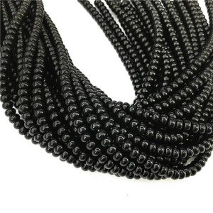 Shop Onyx Rondelle Beads! 8x5mm Black Onyx Rondelle Beads , 15.5 Inch Strand,Approx 78Beads | Natural genuine rondelle Onyx beads for beading and jewelry making.  #jewelry #beads #beadedjewelry #diyjewelry #jewelrymaking #beadstore #beading #affiliate #ad