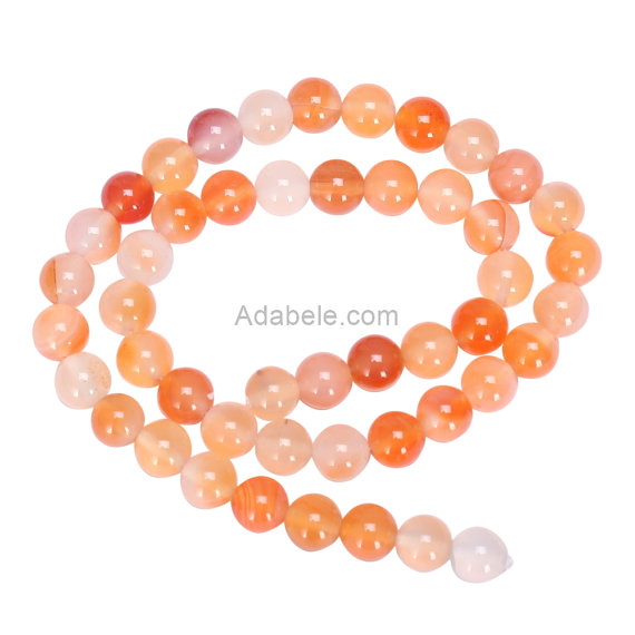 You Pick Aaa Natural Orange Red Agate 4mm 6mm 8mm 10mm Gemstone Round Loose Beads 15 Inch Per Strand For Jewelry Craft Making Gc13
