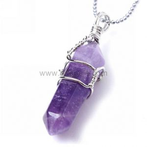 Shop Amethyst Necklaces! Top Quality Natural Amethyst Healing Point Reiki Chakra Cut 18-20 Inch Gemstone Pendant Necklace (1pc) in Gift Bag #GGP-E4 | Natural genuine Amethyst necklaces. Buy crystal jewelry, handmade handcrafted artisan jewelry for women.  Unique handmade gift ideas. #jewelry #beadednecklaces #beadedjewelry #gift #shopping #handmadejewelry #fashion #style #product #necklaces #affiliate #ad