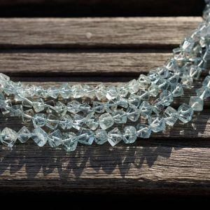 Aquamarine cube beads 3-4mm (ETB00700) Unique jewelry/Vintage jewelry/Gemstone necklace | Natural genuine other-shape Gemstone beads for beading and jewelry making.  #jewelry #beads #beadedjewelry #diyjewelry #jewelrymaking #beadstore #beading #affiliate #ad