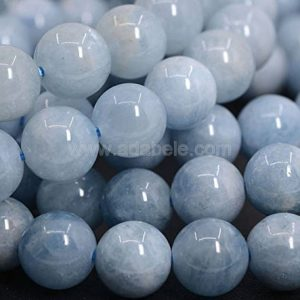 U Pick Natural Grade A Blue Aquamarine Gemstone 4mm 6mm 8mm Loose Round Gems Stone Beads 15 inch Per Strand for Jewelry Craft Making GY21 | Natural genuine round Aquamarine beads for beading and jewelry making.  #jewelry #beads #beadedjewelry #diyjewelry #jewelrymaking #beadstore #beading #affiliate #ad