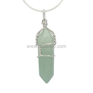 Shop Aventurine Necklaces! Top Quality Natural Green Aventurine Healing Point Reiki Chakra Cut 18-20 Inch Gemstone Pendant Necklace (1pc) In Gift Bag #ggp-e8 | Natural genuine gemstone jewelry in modern, chic, boho, elegant styles. Buy crystal handmade handcrafted artisan art jewelry & accessories. #jewelry #beaded #beadedjewelry #product #gifts #shopping #style #fashion #product