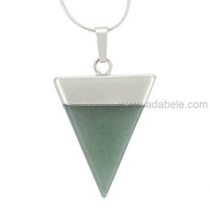 Shop Aventurine Necklaces! Top Quality Natural Aventurine Healing Point Reiki Chakra Triangle Cut 18-20 Inch Gemstone Pendant Necklace (1pc) In Gift Bag Ggp-a6 | Natural genuine Aventurine necklaces. Buy crystal jewelry, handmade handcrafted artisan jewelry for women.  Unique handmade gift ideas. #jewelry #beadednecklaces #beadedjewelry #gift #shopping #handmadejewelry #fashion #style #product #necklaces #affiliate #ad
