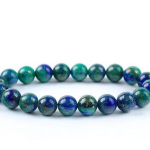 Shop Azurite Bracelets! Azurite Bracelet, Azurite with Malachite Bracelets 8mm, Azurite Bead Bracelet, Malachite Crystal, Azurite Malachite Bead Bracelet, Azurite | Natural genuine Azurite bracelets. Buy crystal jewelry, handmade handcrafted artisan jewelry for women.  Unique handmade gift ideas. #jewelry #beadedbracelets #beadedjewelry #gift #shopping #handmadejewelry #fashion #style #product #bracelets #affiliate #ad