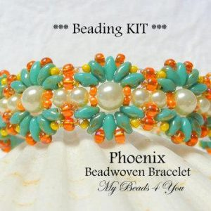 Shop Jewelry Making Kits! Beadwoven Bracelet Kit, Beading Tutorial, Bracelet Kit, PDF Beaded Bracelet Pattern, Beading Instructions, Seed Bead Tutorial, Beading Kit | Shop jewelry making and beading supplies, tools & findings for DIY jewelry making and crafts. #jewelrymaking #diyjewelry #jewelrycrafts #jewelrysupplies #beading #affiliate #ad