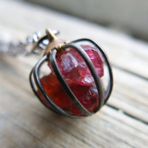 Birthstone Raw Garnet Necklace January Birthday Crystal Dark Red Capricorn Star Sign Gemstone Push Present Gift For Mom Mother Wife | Natural genuine Gemstone pendants. Buy crystal jewelry, handmade handcrafted artisan jewelry for women.  Unique handmade gift ideas. #jewelry #beadedpendants #beadedjewelry #gift #shopping #handmadejewelry #fashion #style #product #pendants #affiliate #ad