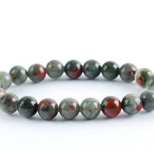 Shop Bloodstone Bracelets! 8mm Bloodstone Bracelet, Bloodstone Bracelets 8 Mm, Heliotrope Bead Bracelets, Heliotrope Healing Natural Bracelet, Bloodstone Crystal | Natural genuine Bloodstone bracelets. Buy crystal jewelry, handmade handcrafted artisan jewelry for women.  Unique handmade gift ideas. #jewelry #beadedbracelets #beadedjewelry #gift #shopping #handmadejewelry #fashion #style #product #bracelets #affiliate #ad