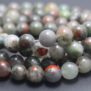 Shop Bloodstone Beads! 6/8/10/12mm African Bloodstone Beads,Smooth and Round Stone Beads,15 inches one starand | Natural genuine round Bloodstone beads for beading and jewelry making.  #jewelry #beads #beadedjewelry #diyjewelry #jewelrymaking #beadstore #beading #affiliate #ad