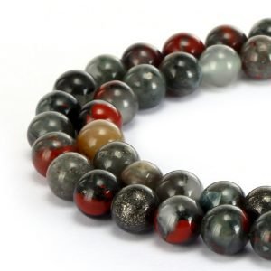 "Shop Bloodstone Beads! African Bloodstone Smooth Round Beads 4mm 6mm 8mm 10mm 12mm 15.5"" Strand 