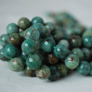 "Shop Bloodstone Beads! High Quality Grade A Natural Australian Bloodstone Semi-precious Gemstone Round Beads – 4mm, 6mm, 8mm, 10mm sizes – Approx 15.5"" strand 